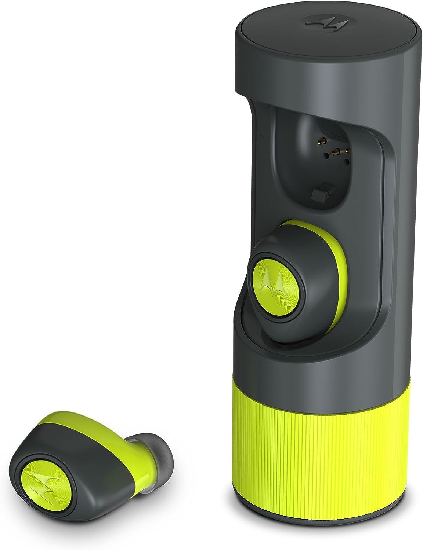 Motorola Auriculares de botón Bluetooth estéreo Inteligentes Completamente inalámbricos y IPx4 Resistentes al Agua [Clase de eficiencia energética A]