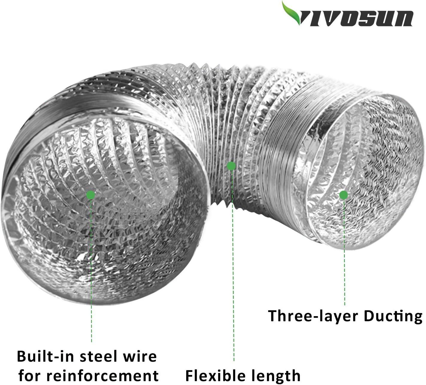 "15/"" Heavy Duty en Acier Inoxydable Flex Ventilateur"