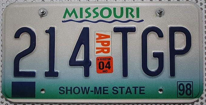 Usa Nummernschild Missouri Us Kennzeichen Show Me State Blechschild Auto