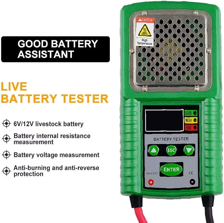 Auto Battery Tester 3 in 1 di Trazione//Potenza di Avviamento della Batteria Tester con Display LCD 6V 12V DC Auto Power Partire Carica CCA Load Test Tool