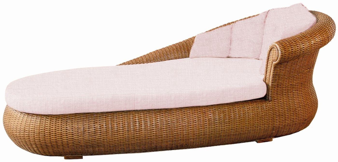 XMC VOGI Ottomane rechts aus Manaurohr mit Sitzrahmen aus Holz - mit Sitzkissen in miele - Stoffbezug viva-beige