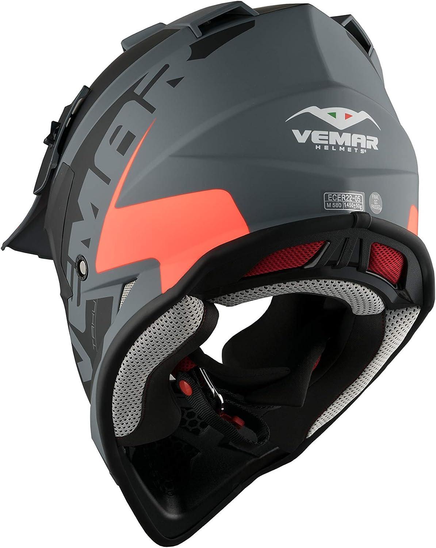 Vemar Taku Eye Helmet C709 Blue//White Medium