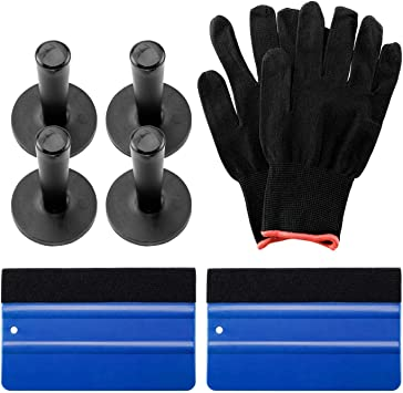 Black GUGUGI 3Pack Magnet Suege Felt Edge Squeegee Vinyl Wrap Application Tools Film Squeegee Tint Tools Kit for Car Vinyl Wrap Auto Graphic Wallpaper,Decal Sticker Installation Window Tint