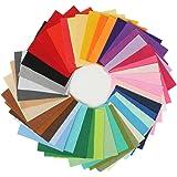 KING DO WAY 42 Colori Feltro in Fogli DIY Tessuto Poliestere per Cucire Mestieri Stoffa Patchwork 15cmX15cm