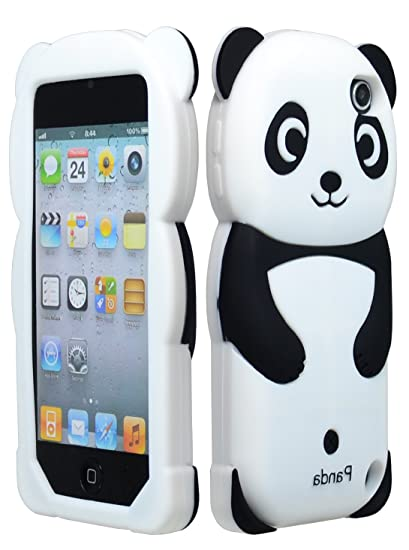 fdea3d72667 For Apple Ipod Touch 5 5th Generation Panda Silicone Jelly Skin Cover Case  Black Accessory