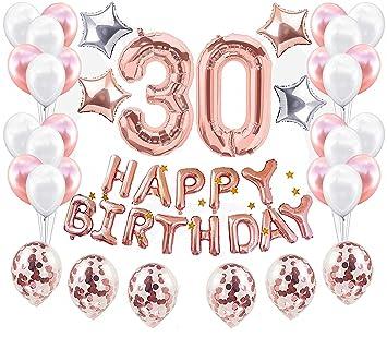 JeVenis 37 Piezas Decoraciones para el 30 cumpleaños ...