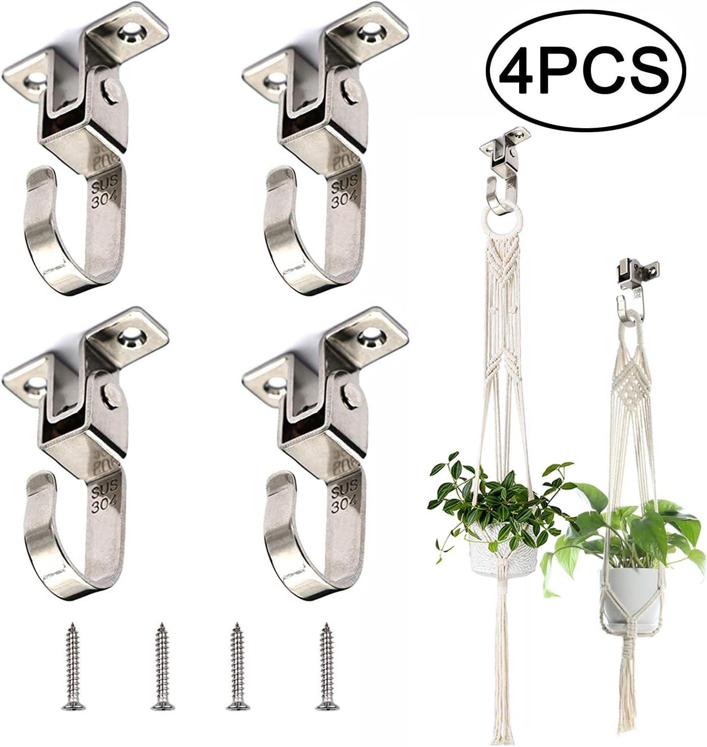 4//pcs Iron Garden Wall Light Hanging Flower Plant Hanger Pot Bracket Hook