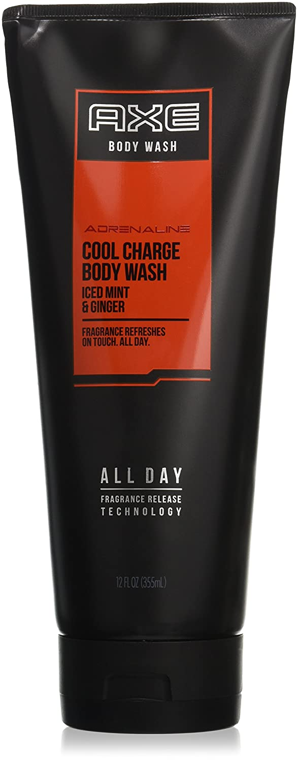 AXE Body Wash for Men, Cool Charge, 12 Fl Oz (Pack of 1)