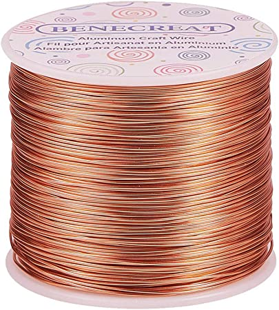 Wire Wrapping DIY 14 gauge Blue Colored Round Aluminum Wire 45 foot coil Blue Anodized Aluminum Wire