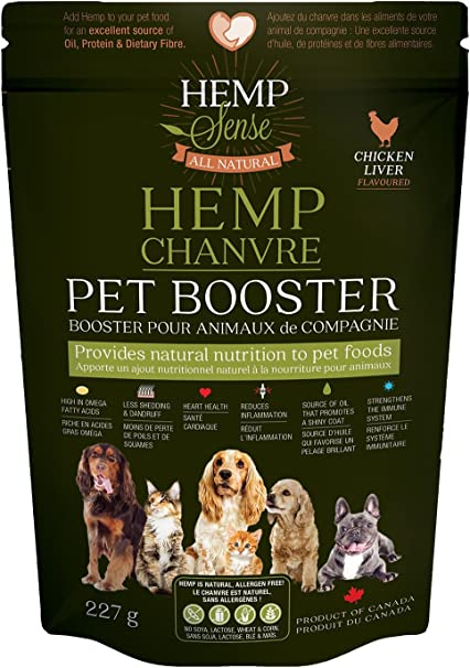 Hemp Sense Pet Booster Natural Nutrition Dog And Cat Food Topper Chicken Liver Flavour Amazon Ca Pet Supplies