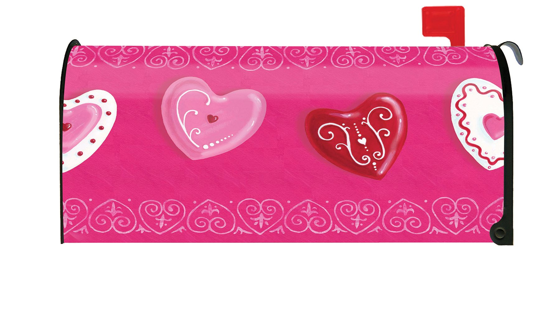 Toland Home Garden Heart Cookies Cute Valentine Dessert Cookie Magnetic Mailbox Cover