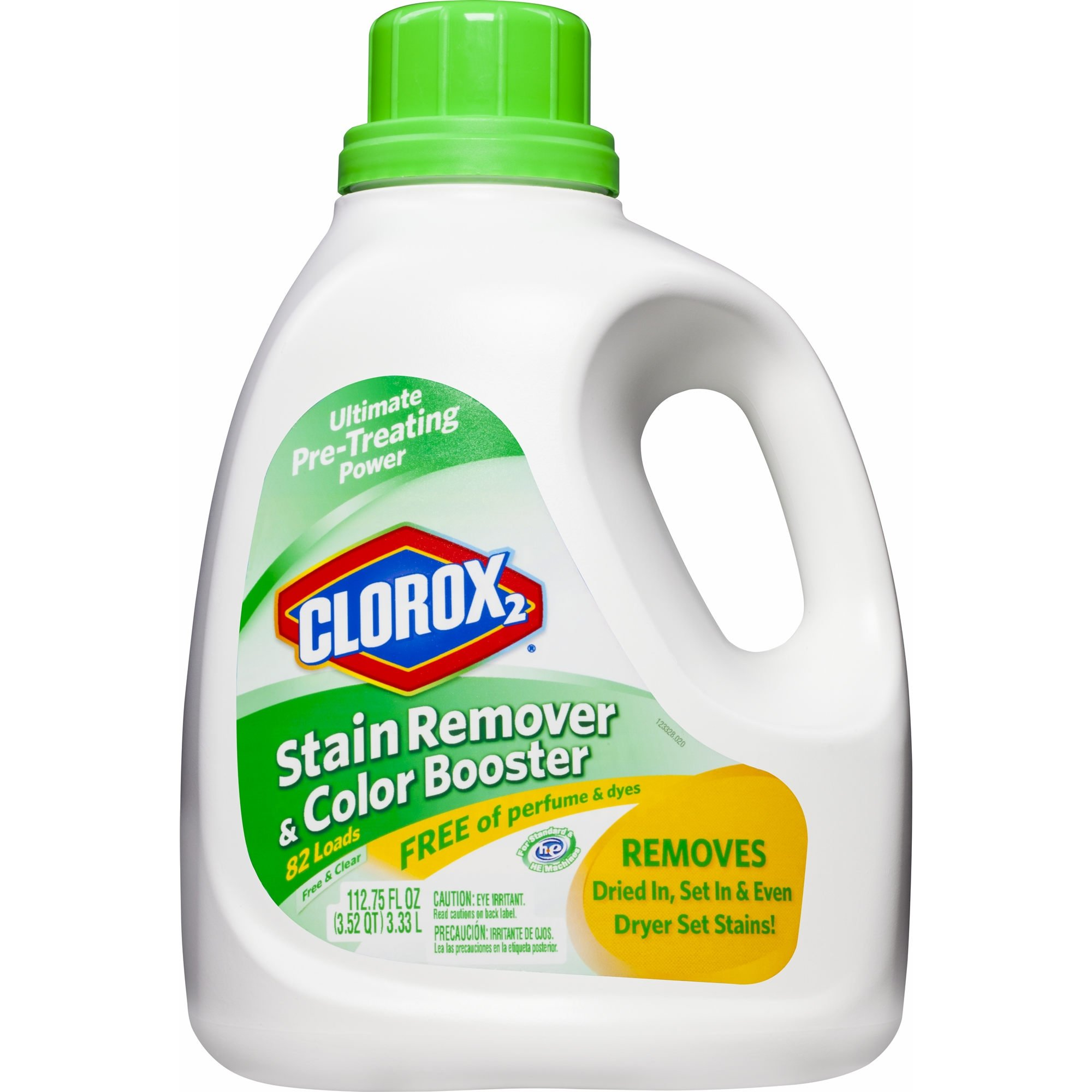 Clorox 2 Liquid Stain Remover & Color Booster Free & Clear,112.75 oz. (pack of 6)