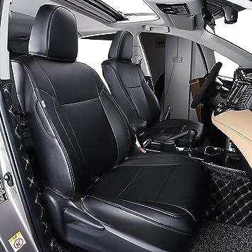 2013-2018 RAV-5 LE, Black OASIS AUTO 2013-2018 Rav-4 Custom Fit PU Leather Seat Cover Compatible with 2013-2014-2015-2016-2017-2018 Toyota Rav4 Non-Hybrid