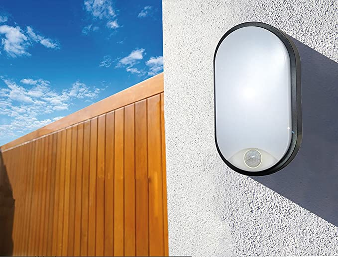 Tibelec 342110 - ojo de buey LED ovalado con detector de movimiento, plástico, 10 W, color blanco, 60 x 12 x 212 mm: Amazon.es: Iluminación