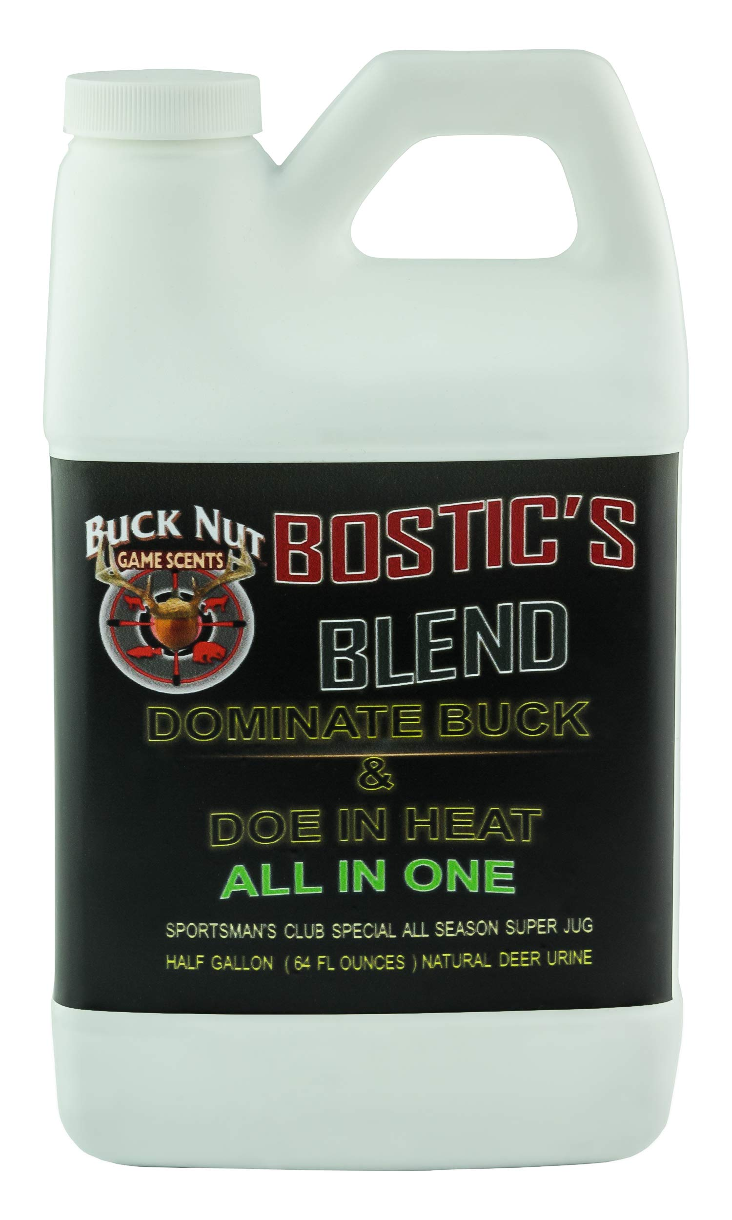 (64 0Z) Whitetail Buck in RUT/DOE in Heat Urine ESTRUS- Liquid Buck & DOE Urine by Buck Nut Deer Scents