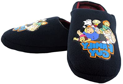 8a9ef4b495ca9d New Mens/Gents Navy Family Guy Novelty Mule Slippers With Fleece Upper -  Navy/