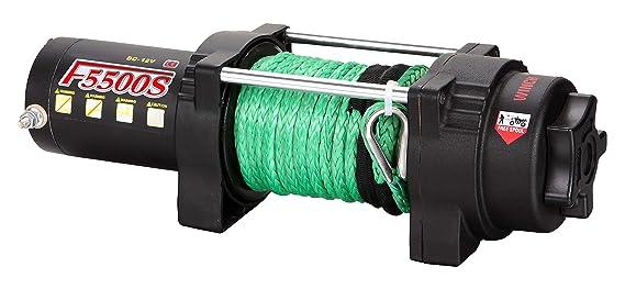 Tungsten4x4 F5500 2.1 HP ATV/UTV - Cabrestante de utilidad eléctrica con hawse y cuerda sintética, capacidad de 5500 libras: Amazon.es: Bricolaje y ...