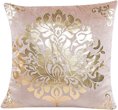 Deelin 1 Pc Velours D Or De Mode Canape Salle De Mariage Decoration De Voiture Impression Taie D Oreiller Housse De Coussin