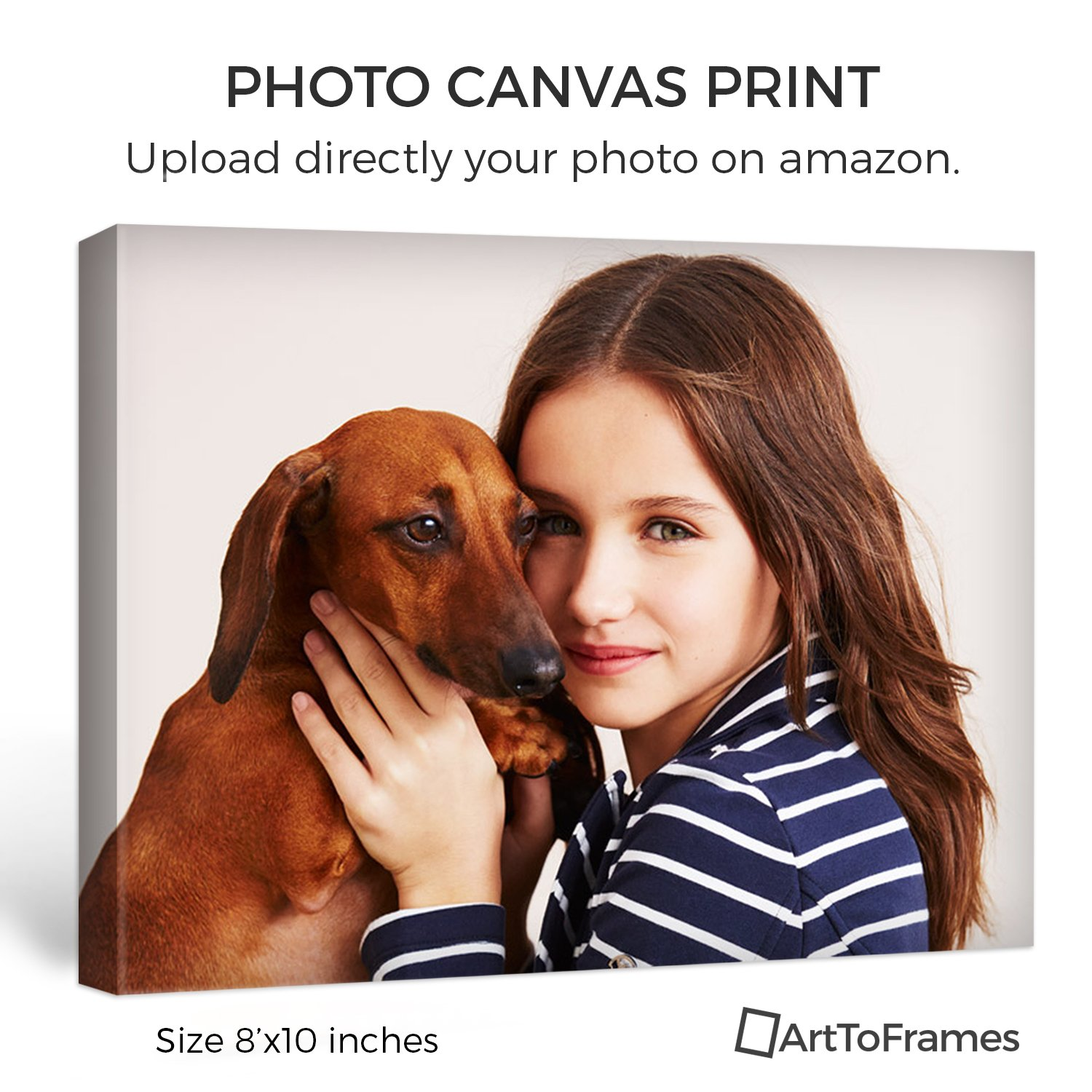 ArtToFrames 8x8 Custom Canvas Print - Upload Your Photo or Picture - 1.5 Inch Gallery Wrap - Mirror Edges. custom_canvas-8x8-.75