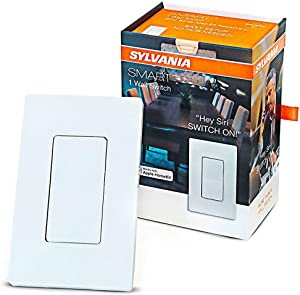 SYLVANIA General Lighting 78069 Bluetooth in-Wall Switch, Works with Apple HomeKit and Siri Voice Control, No Hub Required, 1 Pack