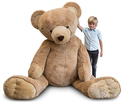 amazon com 7 foot fao schwarz oversize stuffed plush bear extra