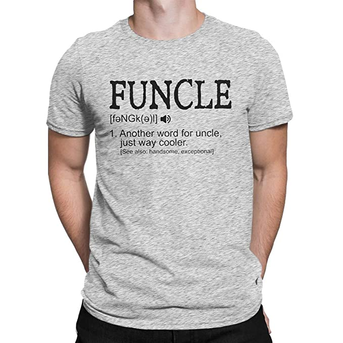 2d8450ac Funcle - Funny Uncle Definition Funny Men's T-Shirt Gift Idea Tops Tees Gray