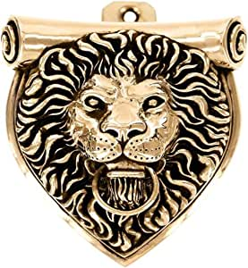 Vicenza Designs DK9000 Sforza Lion Door Knocker Antique Gold