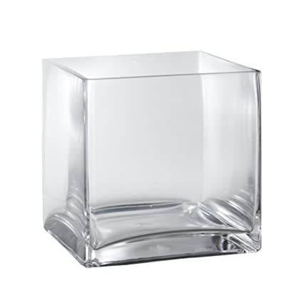 Amazon 6 X 6 X 6 Square Clear Glass Cube Vase Or Candle