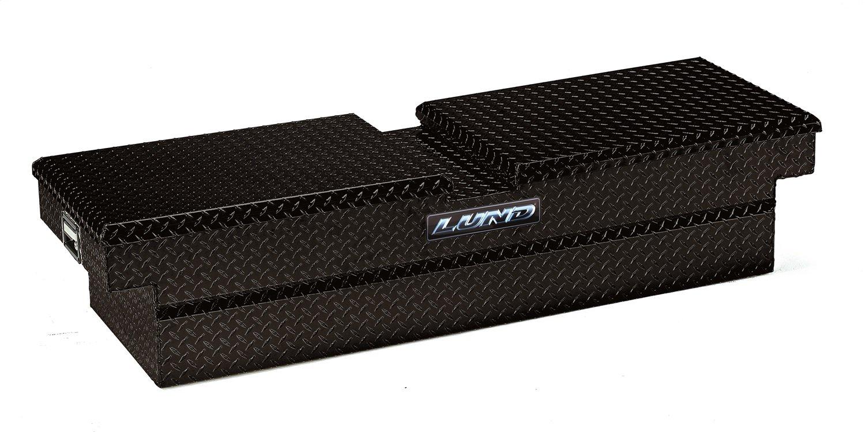 Lund 7111052 70-Inch Economy Line Aluminum Gull Wig Cross Bed Truck Tool Box, Diamond Plated, Black
