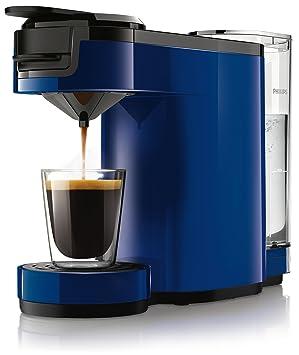 Senseo Up HD7880/71 - Cafetera (Independiente, Máquina de café en cápsulas, 0,7 L, Dosis de café, 1450 W, Azul): Amazon.es: Hogar