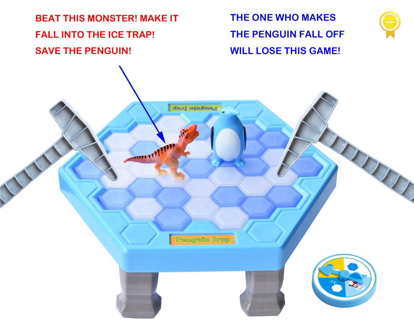 SPEAK FUN Penguin Trap Puzzle Table Games Balance Ice Cubes Icebreaking Games Save the Penguin Interactive Family Game by SPEAK FUN (Image #2)