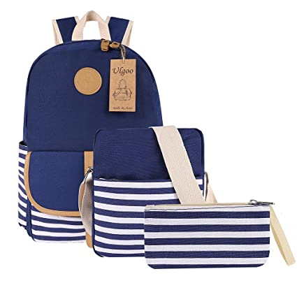 6a474470745e Buy Ulgoo School Backpacks Canvas Teen Girls Backpacks Casual Shoulder Bags  Online at Low Prices in India - Amazon.in