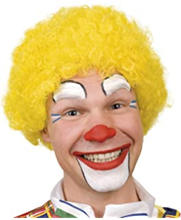 Adult yellow afro clown wig (peluca)