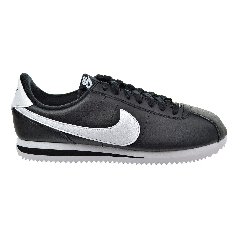 outlet store d751c d2da4 Amazon.com   Nike Cortez Basic Leather Men s Shoes Black White Metallic  Silver 819719-012 (8 D(M) US)   Running