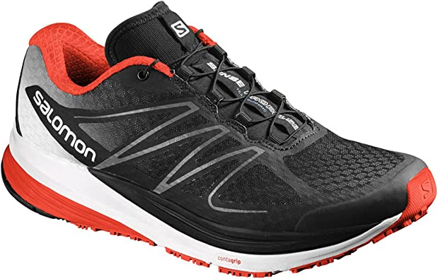 Salomon L39181800, Zapatillas de Trail Running para Hombre, Negro (Black/White/Lava Orange), 46 2/3 EU: Amazon.es: Zapatos y complementos