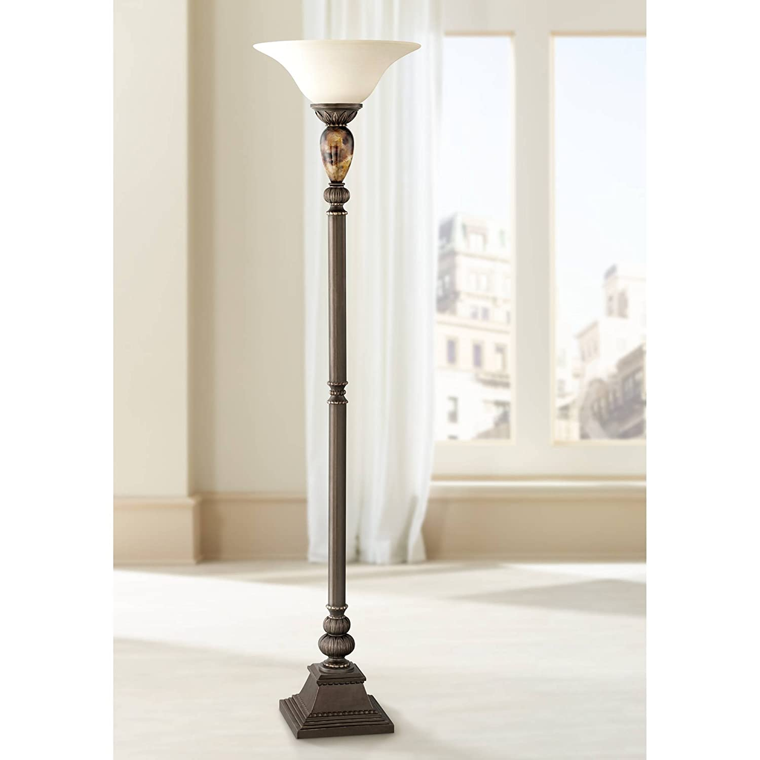 Kathy Ireland Mulholland 72 High Torchiere Floor Lamp