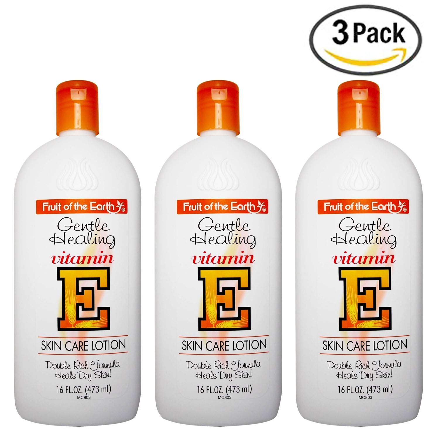 Fruit of The Earth Gentle Healing Vitamin E Skin Care Lotion 16 Fl Oz (3 Pack)