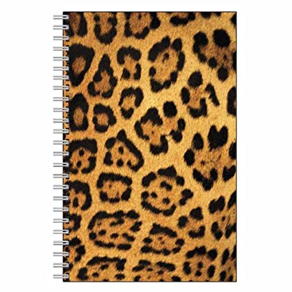 Beau Leopard Print Notebook Journal   Wildlife Animal Theme Design   Spiral  Bound   80 Lined Pages