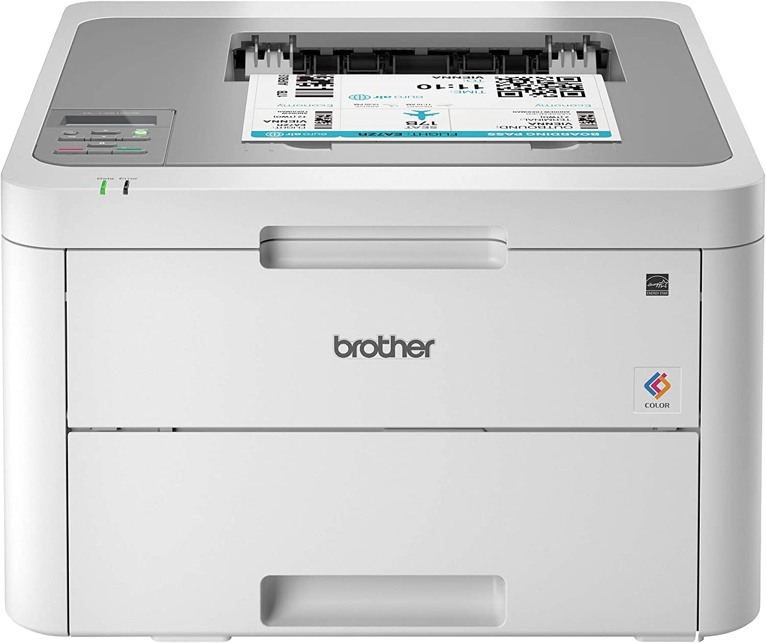 Brother HL-L3210CW Compact Digital Color Printer Providing Laser Printer Quality Results with Wireless,  Dash Replenishment Ready, White: Electronics