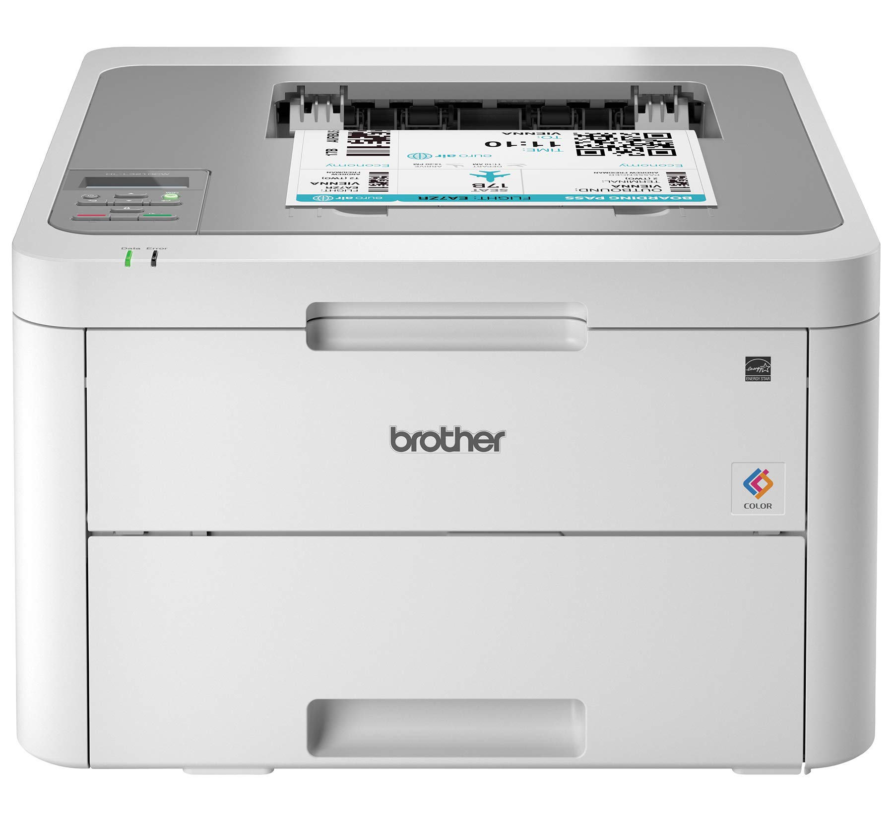 Brother HL-L3210CW Compact Digital Color Printer Providing Laser Printer Quality Results with Wireless, Amazon Dash Replenishment Enabled, White by Brother