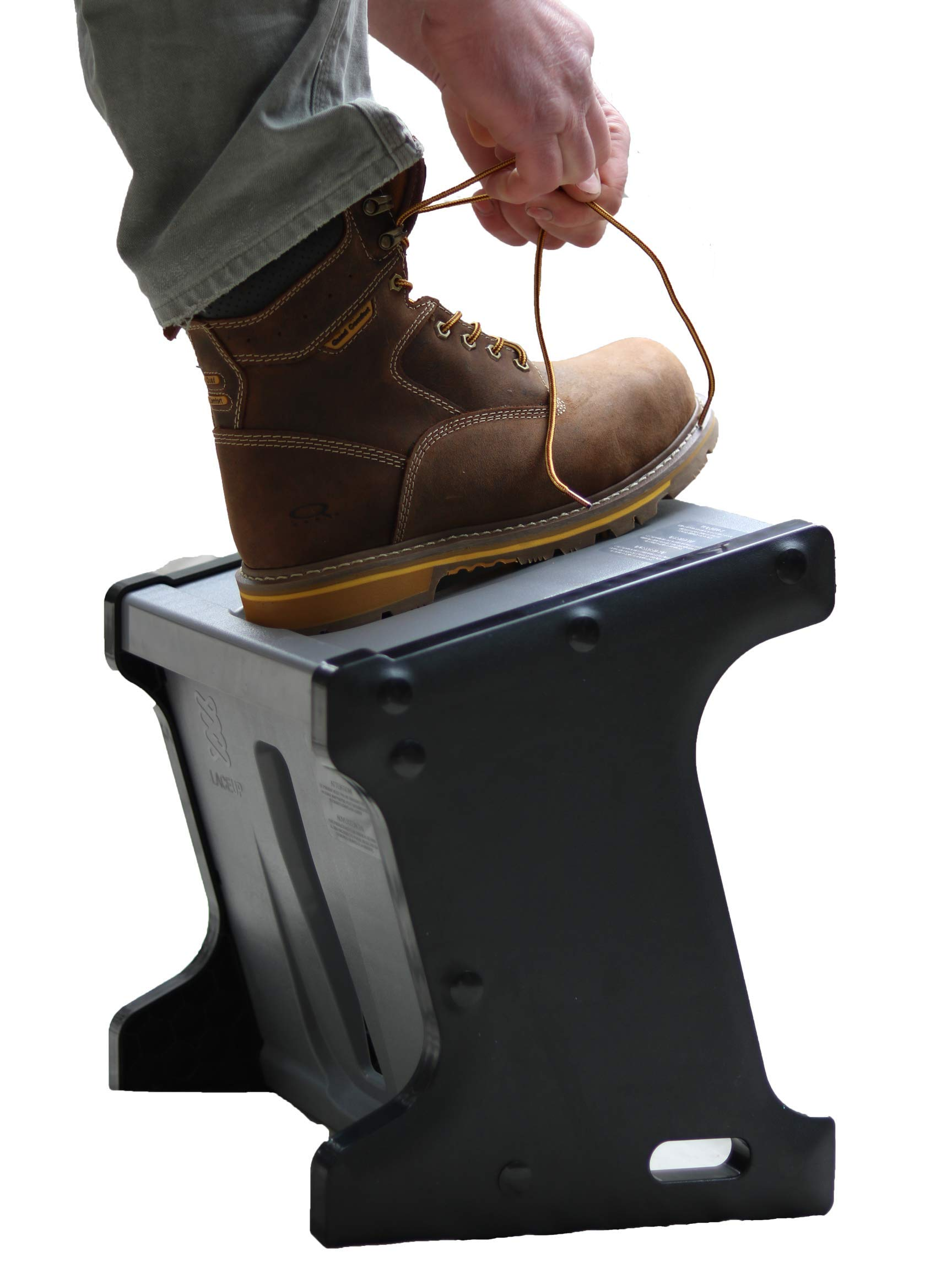 Practice Good Ergonomics! Lace Up Work Boots Safely. Athletic Foot wear - Sock aid - Mobility Helper - Footcare/Pedicure. Brings Your Foot Within Reach. Keep Active, Stay Healthy. Makes A Great Gift!