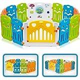 Baby Vivo - Parques para niños con colores de plástico de puertas XL