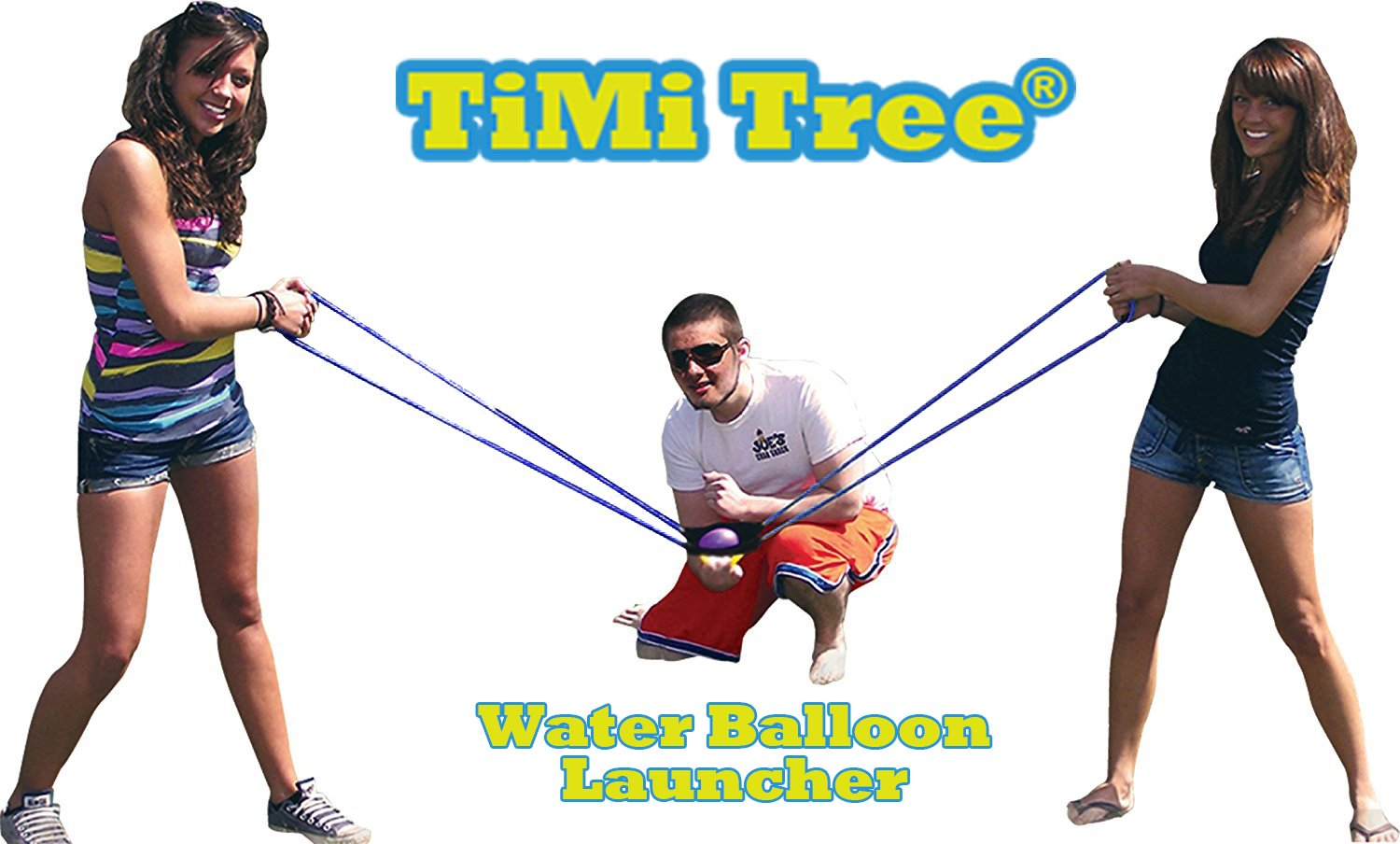 TiMi Tree Water Balloon Launcher 400 meters Long Range, Heavy Duty Water Bomb Cannon / Slingshot Fun Water Balloon Fight Pool Party Toy, 3 People Giant Angry Birds Summer Beach Games,500 Balloons & Carry Case, Ideal Gift with Water Pistols,