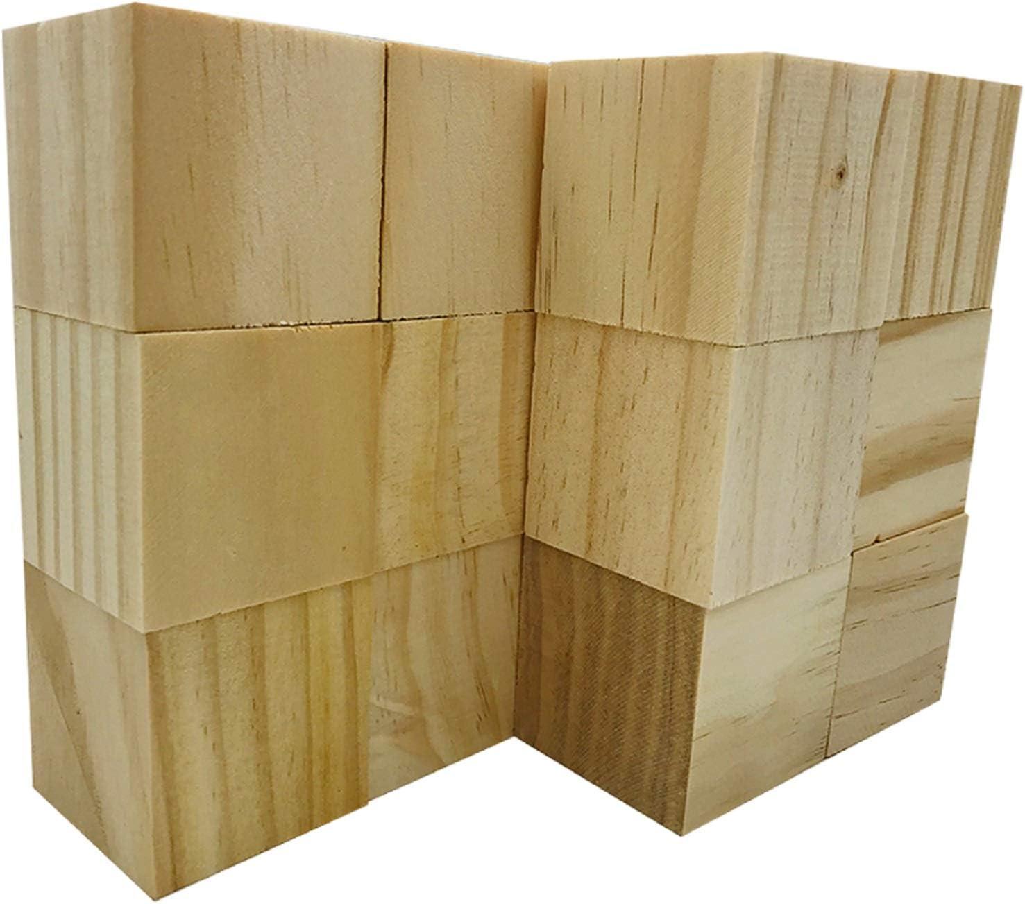 """/""""N//A/"""" 10 Blocs de Sculpture sur Bois Blocs de Sculpture sur Bois Non Finis Kit de Sculpture sur Bois Kit de Loisirs pour Adultes et Enfants"""