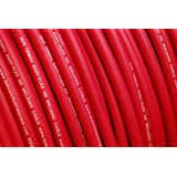 TEMCo WC0407-25 ft 2/0 Gauge AWG Welding Lead & Car Battery Cable Copper Wire RED   Made in USA