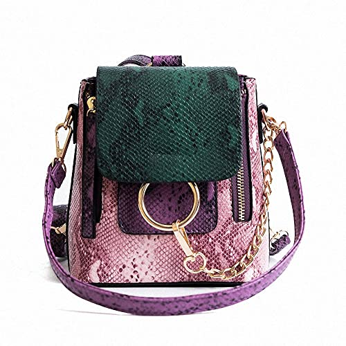 d2bc8afcd1d3 Image Unavailable. Image not available for. Color  Women s Fashion  Crossbody Bags Mini Backpack Pu Leather Shoulder Bag Ladies Cute Chain Satchel  Bag