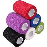 CHIC-CHIC 6 Pack 3 Inch Cohesive Bandage Elastic Self Adherent Vet Wrap Bulk Sports Bandages