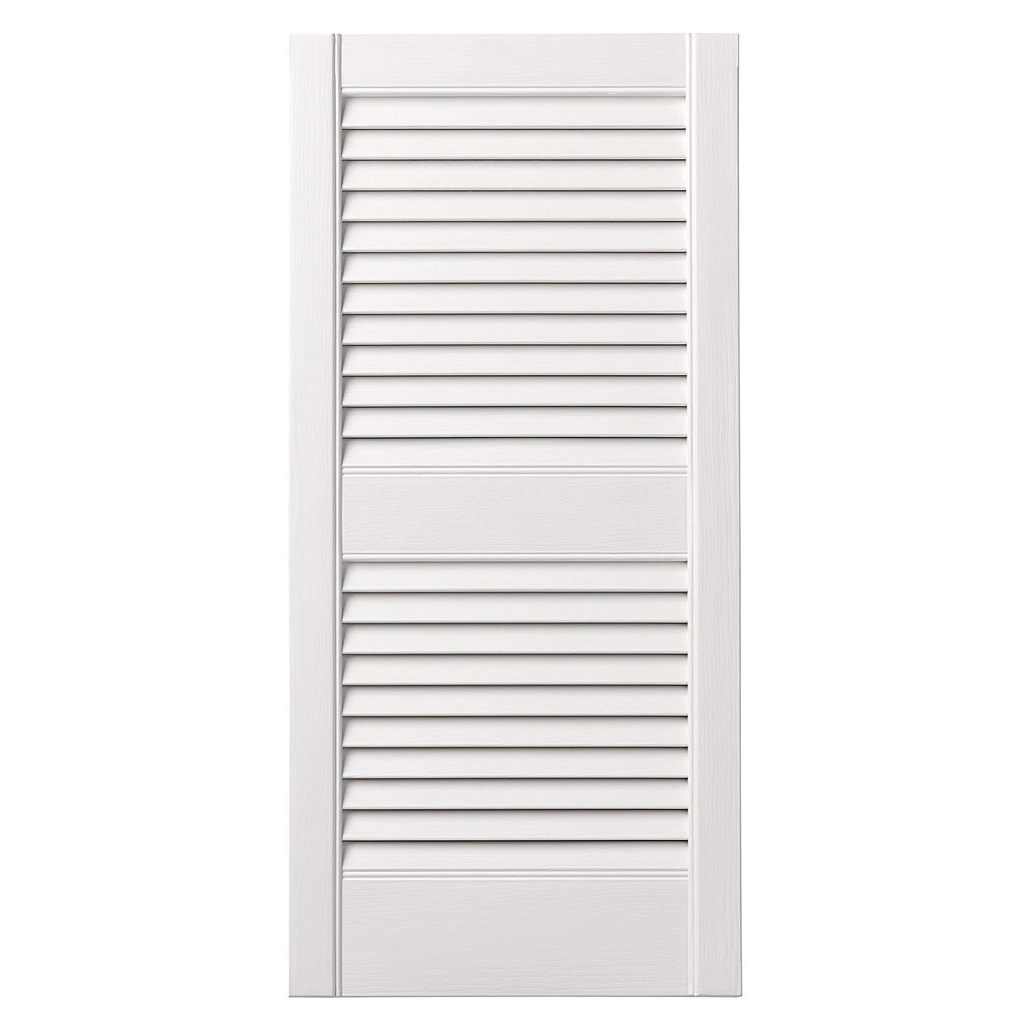 Ply Gem Shutters and Accents VINLV1531 11 Louvered Shutter, 15'', White