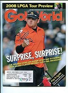 J.B. Holmes Signed 2008 Golf World Magazine Autographed PGA Golf - PSA/DNA Certified - Autographed Golf Equipment