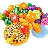 Giocattolo di taglio, Hipsteen 24 pezzi Frutta verdure Cucina Giocattolo Taglio Gioco cibo giocattolo Per Bambini